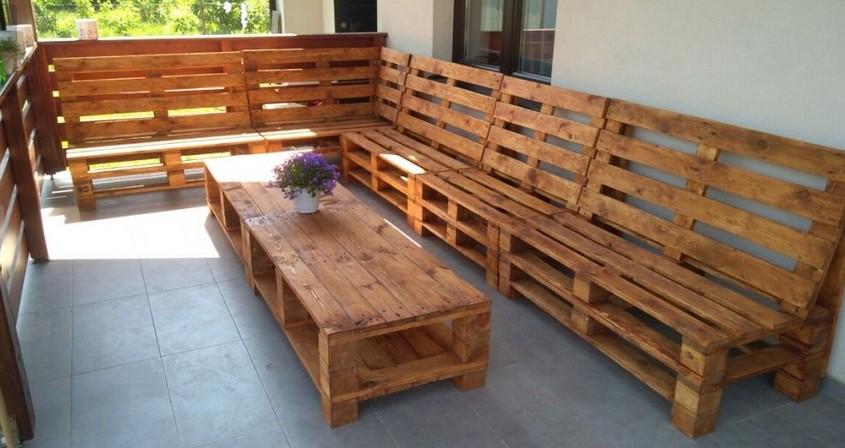 Stół i ławki z palet